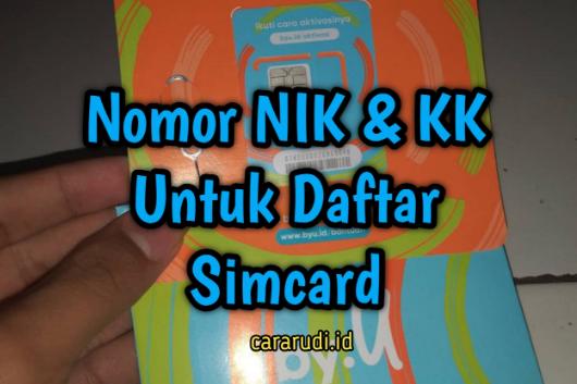KK dan NIK untuk daftar kartu perdana