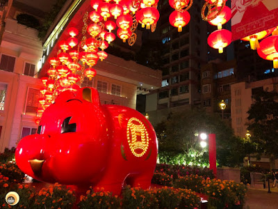 Lunar New Year 2019, Year of the Pig, Theme based decoration at Lee Tung Avenue