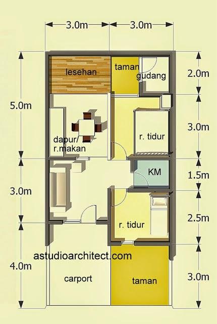 42 Gambar dan Denah Rumah Minimalis Type 60  Desainrumahnyacom