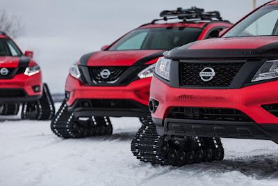"H Nissan αποκαλύπτει τρεις πρωτότυπες χειμερινές πολεμικές ""μηχανές"", στο Σαλόνι Αυτοκινήτου του Σικάγο"