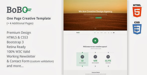 Premium Responsive One Page Template