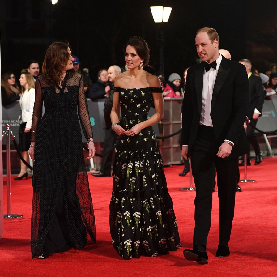 Kate Middleton Arrives Fashionably Late To The 2017 BAFTAs