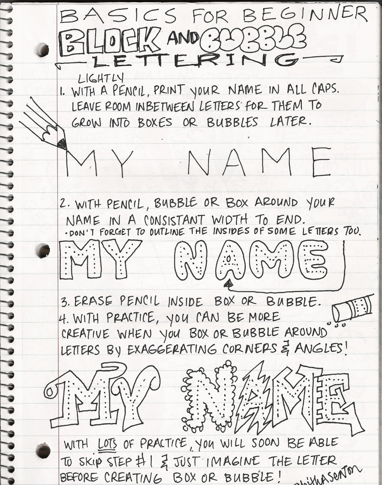 Artimus Prime 8th Grade Sketchbook Assignments