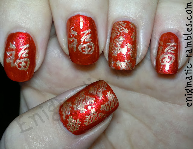 nails-inc-luminous-red-metallic-ebalay-rose-gold-004-konad-fauxnad-M71-bundle-monster-221-BM221