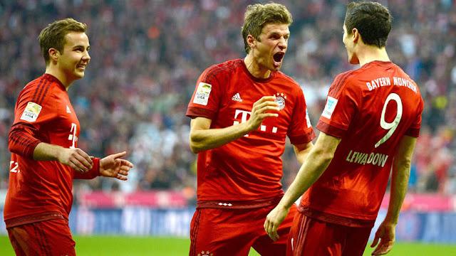 Müller Lewandowski Bayern München Bundesliga