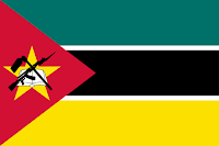 Logo Gambar Bendera Negara Mozambik PNG JPG ukuran 200 px