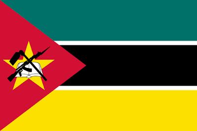 Logo Gambar Bendera Negara Mozambik PNG JPG ukuran 400 px