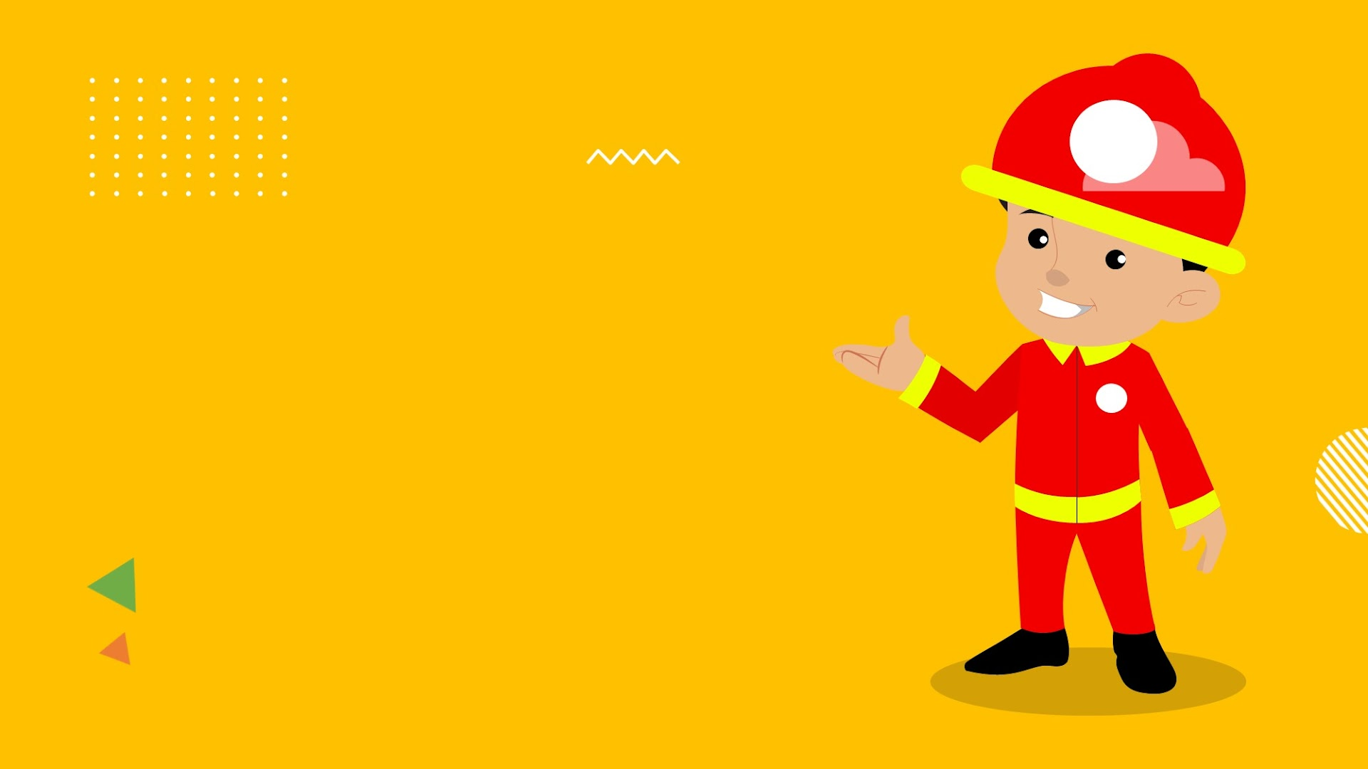 Cartoon Fire Fighter Background for Google Slides Themes