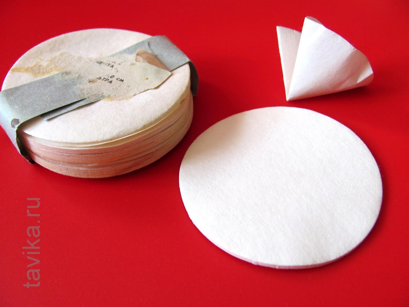 Как сделать фильтр из фильтровальной бумаги