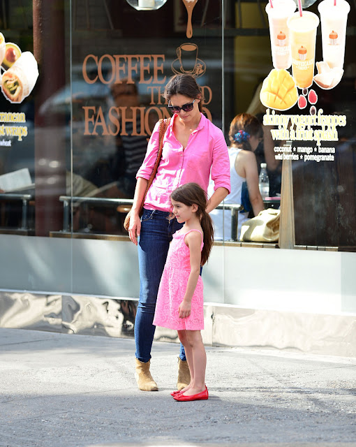 Katie Holmes & Suri | Mom & Daughter Twinning | Chichi Mary Blog