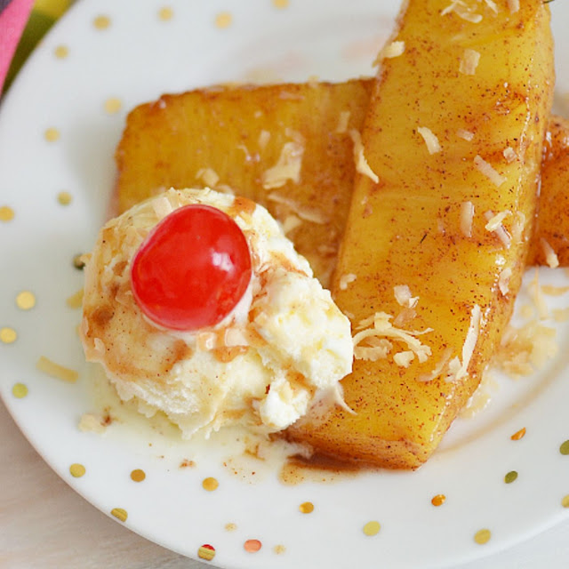 CINNAMON FRIED PINEAPPLE