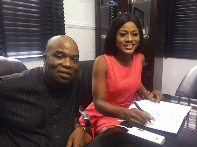 The BBNaija housemate, Alex shared her new endorsement deal with jenesis colony. She wrote:
