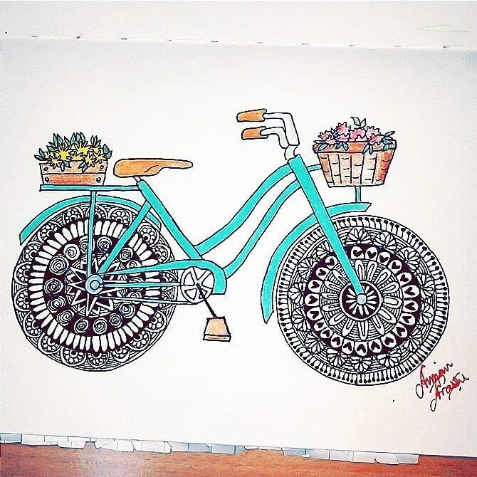 10-Bicycle-Mandala-Wheels-Aiman-Arastu-Mandalas-Drawings-and-More-Art-www-designstack-co