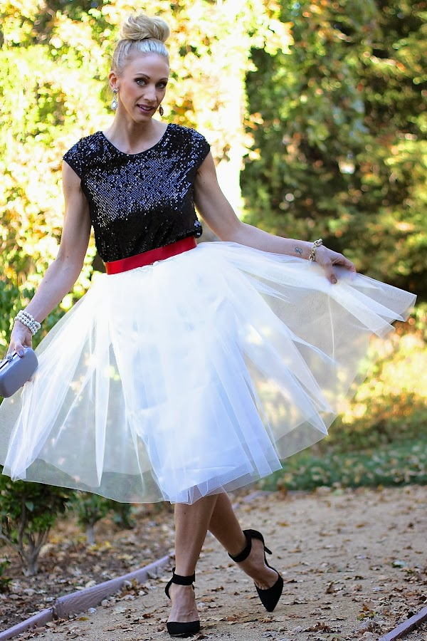 tulle skirt sequin top