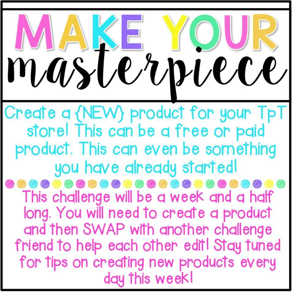 Tpt Challenge Week 3 Create Your Own Masterpiece Glimmers