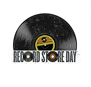 Half a vinyl record with Record Store Day stamped underneath