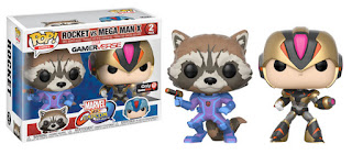 Pop! Games: Marvel vs. Capcom: Infinite Rocket Racoon vs Mega Man X GAMESTOP