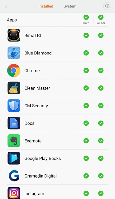 Mematikan koneksi internet aplikasi tertentu