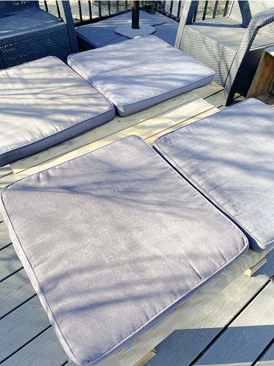 faded outdoor furniture cushions