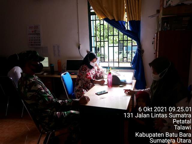 Bersama Dengan Aparat Desa Personel Jajaran Kodim 0208/Asahan Laksanakan Komunikasi Sosial