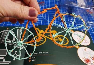 3Doodler bike made from eco-plastic 3D printing pen