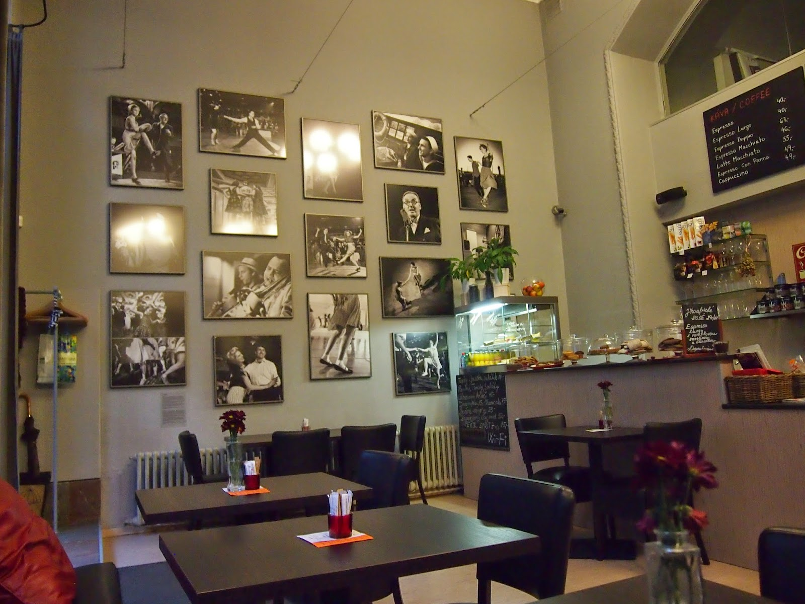 The inside of the Leica Cafe in Prague
