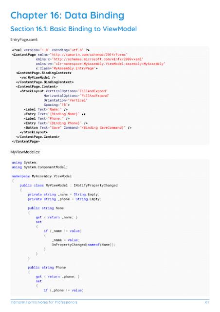 Xamarin Data Binding