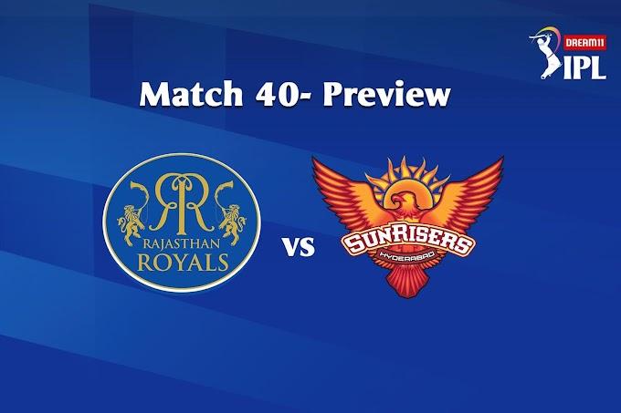 जानिए कौन जीतेगा आज का मैच ? RR vs SRH 22th October 2020