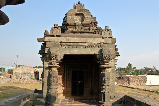 Front view of Suryanaraya Shrine as seen from the east door of the Kashivishwanatha shrine