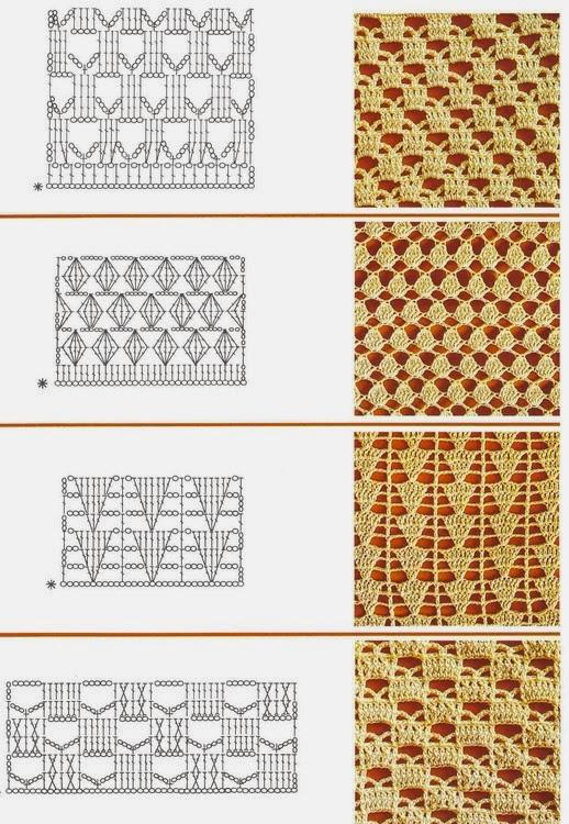 17 Esquemas De Puntos Crochet Para Renovar Tus Creaciones
