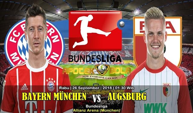 Prediksi Bayern Munchen vs Augsburg 26 September 2018