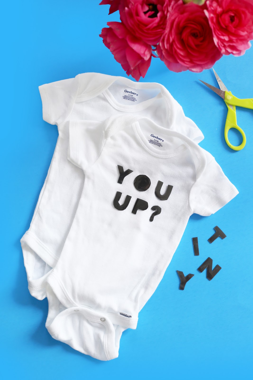 Diy baby shower personalized onesies hey eep in an effort to stock our baby girls closet with a few essentials that dont make me cringe and dont break the bank i set out to turn a bulk pack of negle Images