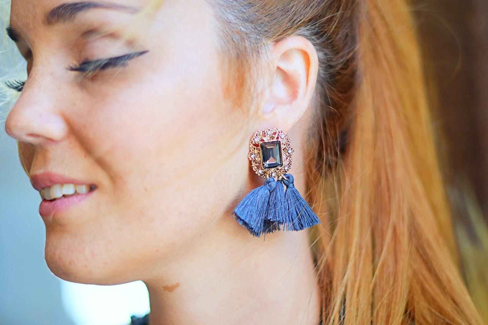nery hdez , lace dress, tassel earrings, nephra, ottaviani, silver sandals, amiclubwear