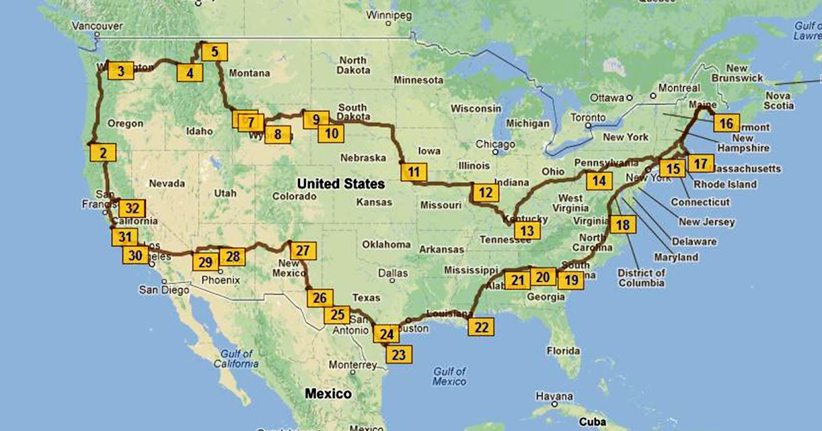 Rv Travel Map Of Usa