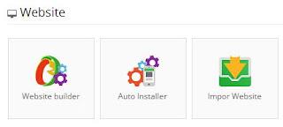 Website, klik Auto Installer