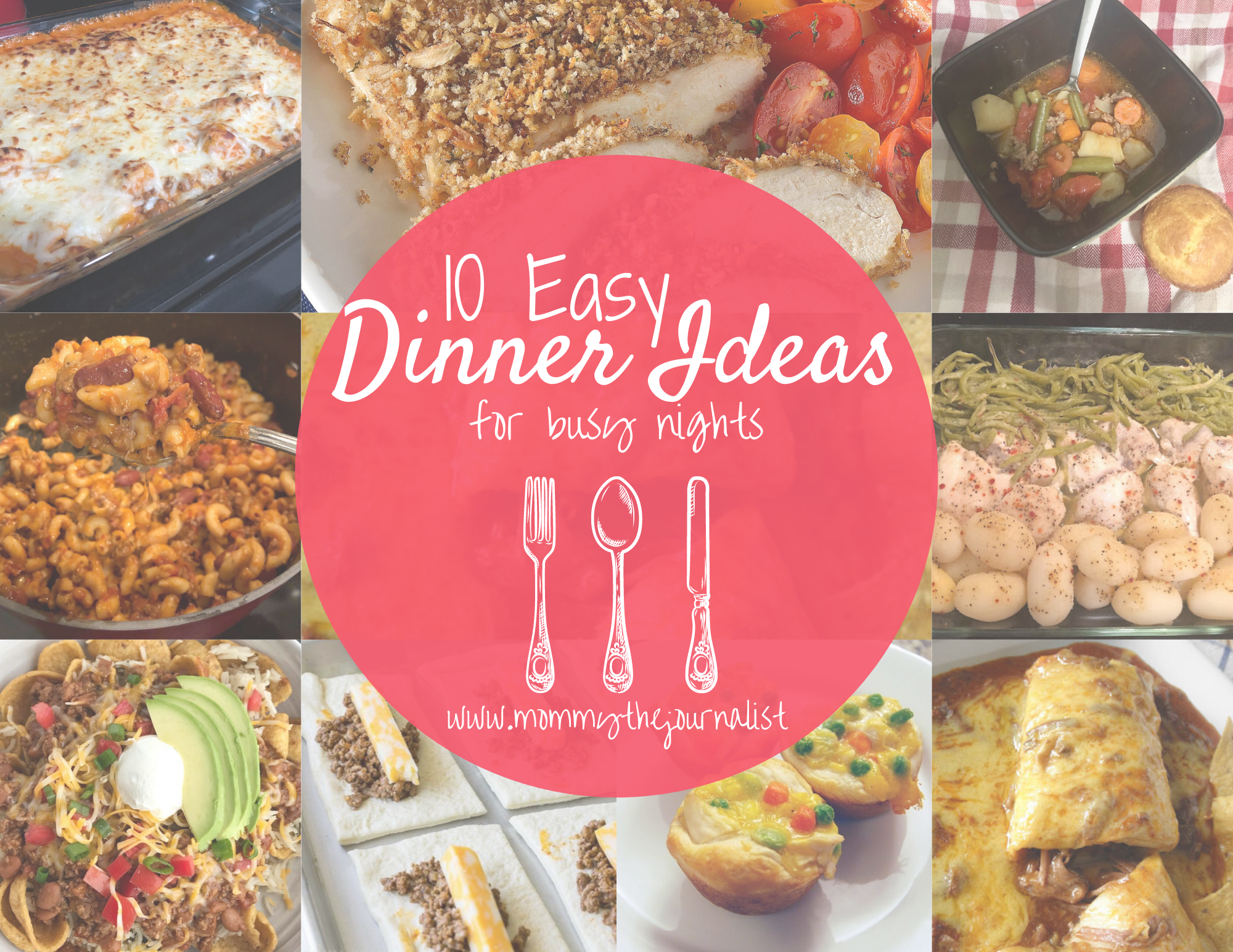 10 Easy Dinner Ideas for Busy Nights