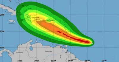 Tormenta tropical Dorian se fortaleció en las últimas horas