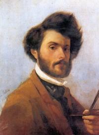 A self-portrait of Giovanni Fattori as a young man