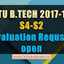 B.Tech S4 and B.Tech S2 Examinations - Revaluation request is open