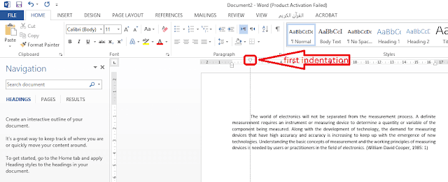 how to create a paragraph in word