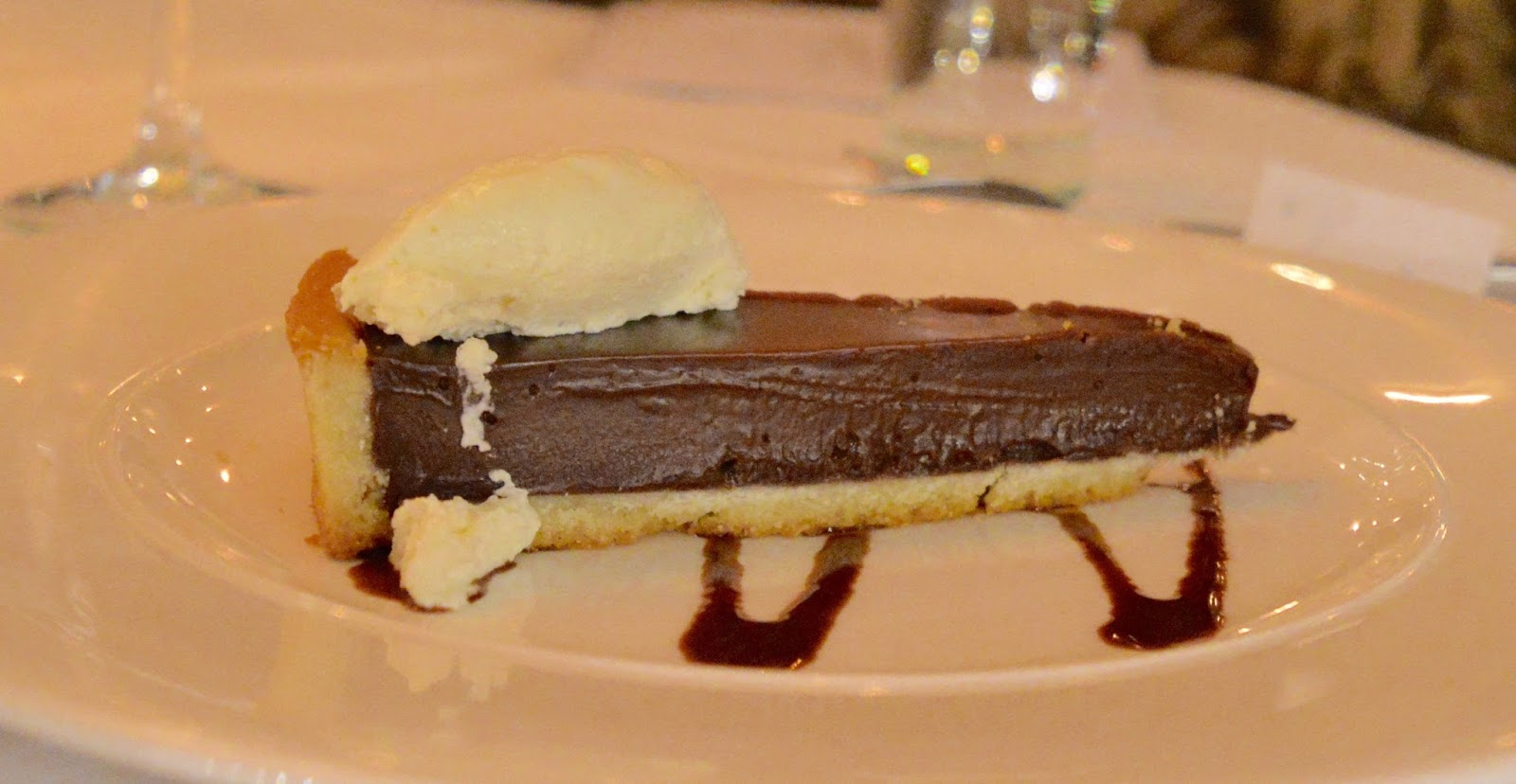 Celebrate Christmas at Newcastle Gusto  - chocolate and ginger tart