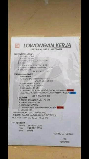 Download Loker Serang 2021 Pictures