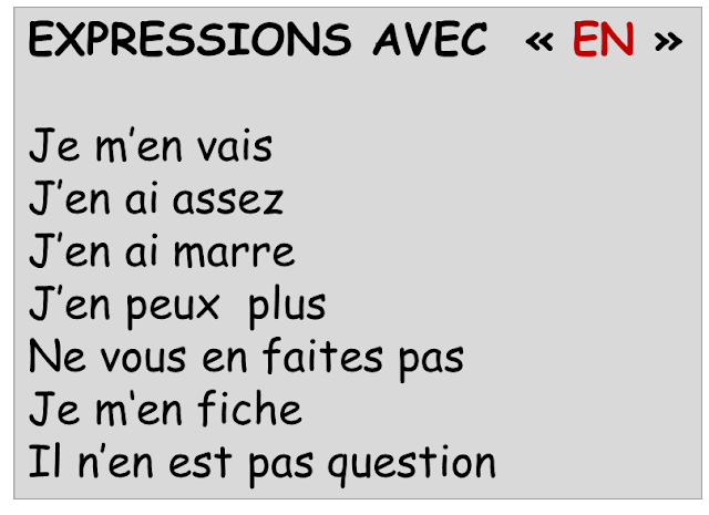 Zaimek en - wyrażenia 1 - Francuski przy kawie
