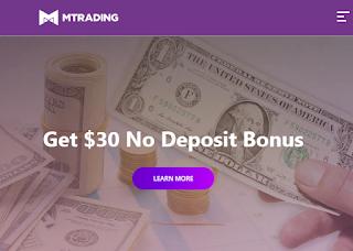 Bonus Forex Tanpa Deposit MTrading $30