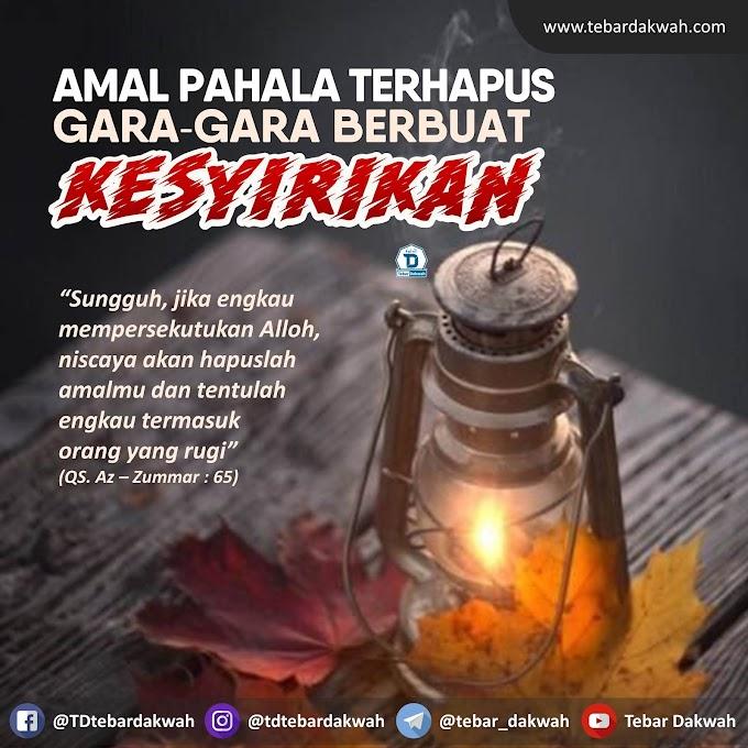 AMAL PAHALA TERHAPUS GARA-GARA BERBUAT KESYIRIKAN