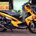 Yamaha Nouvo LX sơn màu vàng đen cực đẹp