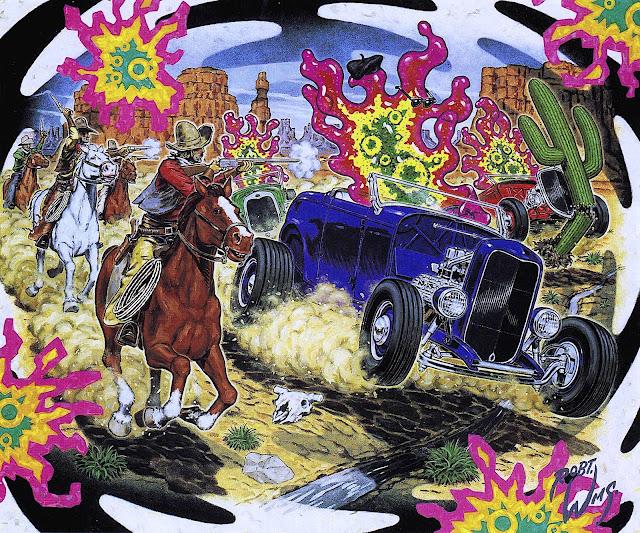 a Robert Williams painting of a desert fantasy