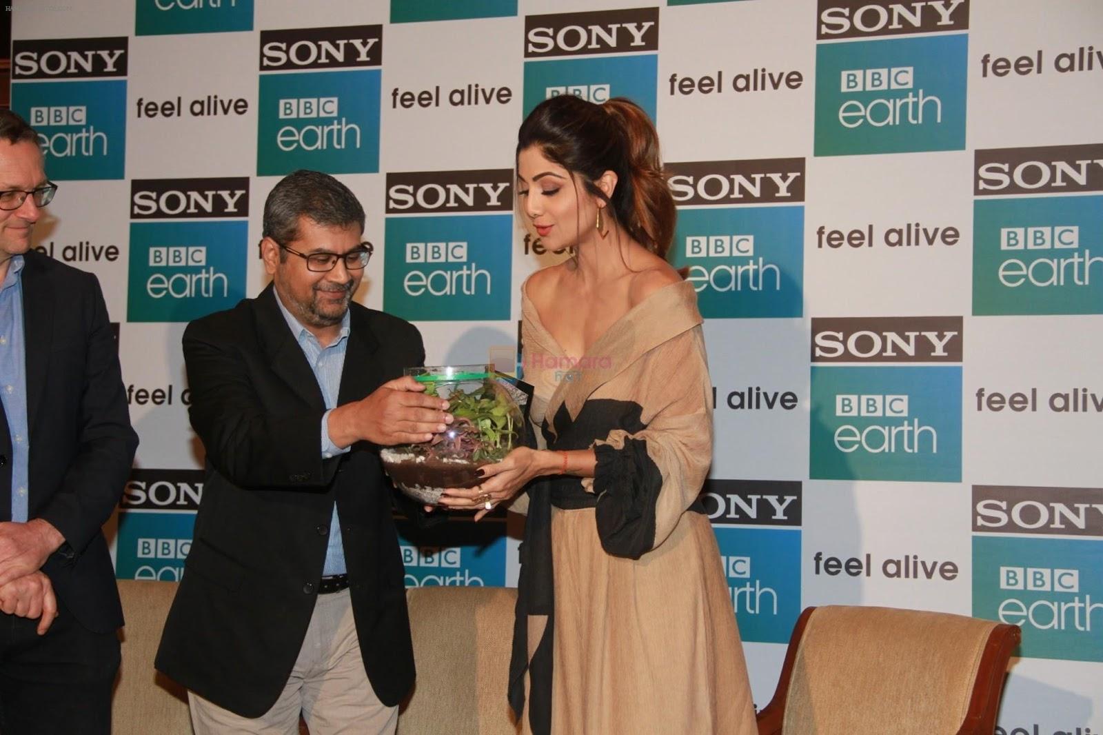 Shilpa shetty at the first anniversary celebration of sony bbc