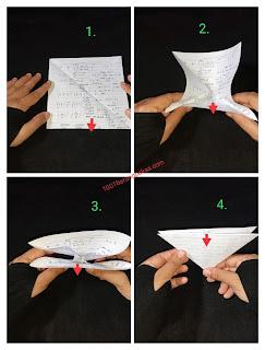 cara membuat bunga dari kertas buku bekas
