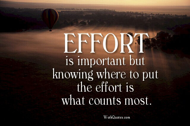 Effort Quotes and Sayings